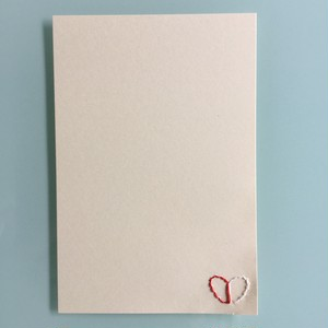 刺繍ポストカード(片想い)