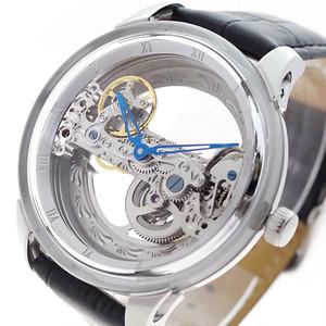 アルカフトゥーラ ARCA FUTURA 腕時計 メンズ 8683BK 自動巻き スケルトン ブラック