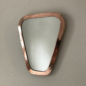 wall mirror copper colored trapezium