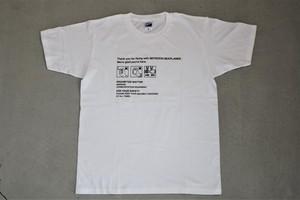 Tシャツ(白)紙ナプキン柄 サイズS~XL / Woman M