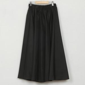 nselection タフタギャザースカート / BK