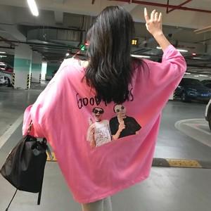 【tops】プリントラウンドネックシンプルTシャツ27186311