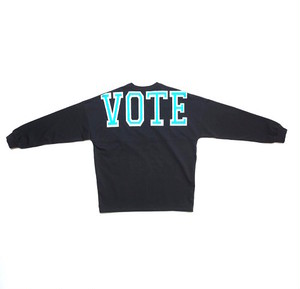 VOTE BIG LOGO L/S TEE - BLACK