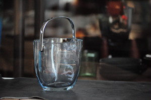 Strombergshyttan Swedish Glass Ice Bucket