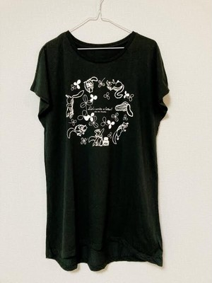 「Tシャツワンピース黒」 深田絵里