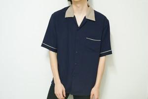 bowling navy shirt