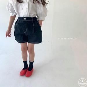 «sold out» go.u stitch short pants ステッチショートパンツ