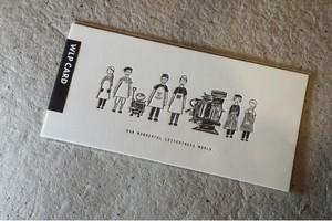 WONDERFUL LETTER PRESS CARD