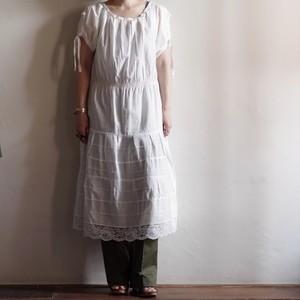 80's Cotton Tiered Dress / コットン ティアード ドレス