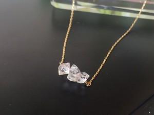 ドリームクリスタルハーキマーダイヤモンドプチネックレス