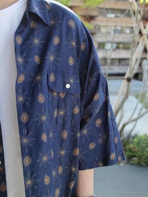 H.UNIT【Paisley Print Dolman Shirts Navy】MN
