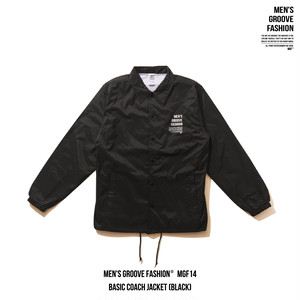 BASIC COACH JACKET (BLACK)