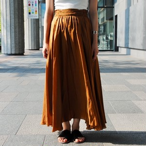 【ne Quittez pas】SILK MAXI LONG SKIRT