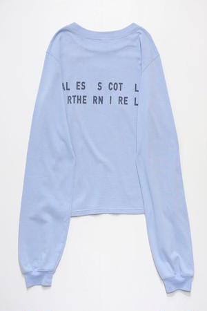 LOOSE SLEEVE L/S TEE (LIHGT BLUE)