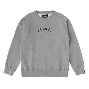 S.W CREW NECK / GRAY x NAVY