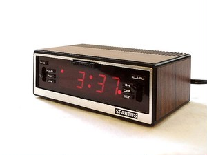 "80's ""Spartus"" Digital Alarm Clock"