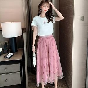 Tシャツ+スカートセット V00679