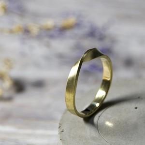 ブラスツイストリング ワンポイント 3.0mm幅 マット 3号~27号|WKS TWIST RING ONEPOINT 3.0 bs matte|BRASS 真鍮 指輪 FA-260