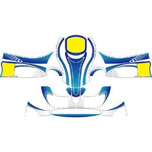 レーシングカート用 カウルステッカー フリーライン用 Yb-Bu2 特注品