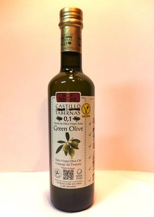 カスティージョ・デ・タベルナス0.1 グリーンオリーブ 500ml 酸度0.1 エクストラバージンオリーブオイル