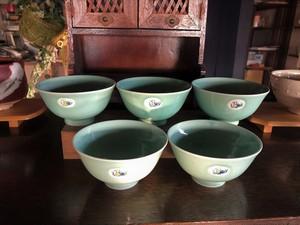 青磁ご飯茶碗 5点セット