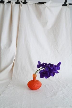Honeycomb Orange Flower Vase