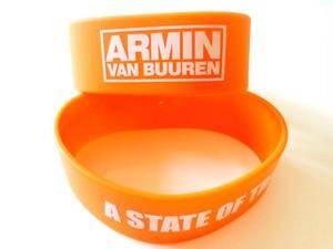 ARMIN VAN BUUREN / ASOT シリコンリストバンド(オレンジ)