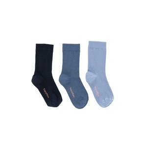 tinycottons / pack of 3 medium socks[navy/light navy/blue]