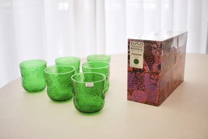 Nuutajarvi Fauna glass tumbler small with box(Oiva Toikka)