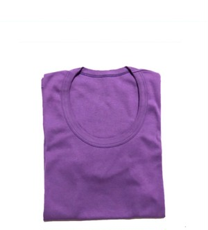 【ブルーバイオレット】UネックTシャツ