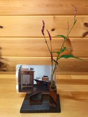現品限り《デザインC》木製~ペン&メモスタンド~一輪挿しにも…♪