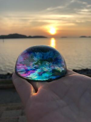 オルゴナイト ドーム型  (瑠璃色の夏)