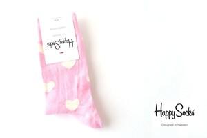 ハッピーソックス|happy socks|クルー丈カジュアルソックス|60-5035|ハート柄|レディースサイズ