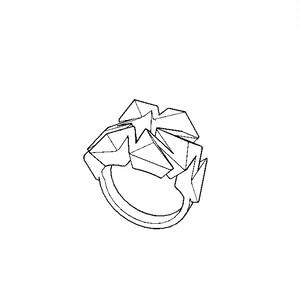 Auxetic pattern Ring_White