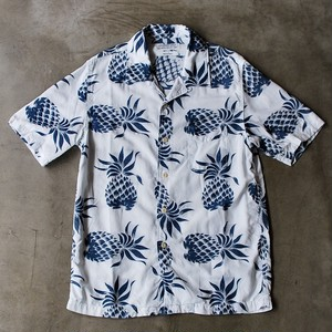 REMI RELIEF indigo aloha open collor shirts