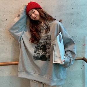 【トップス】ファッション長袖着痩せ薄手ルーズ合わせやすい韓国系パーカー22536106