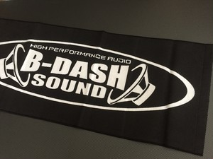 B-DASH SOUNDタオル黒