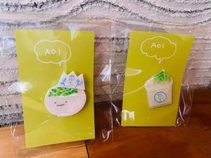 AOI【水だんごブローチ&水だんごパフェブローチセット】※送料込み