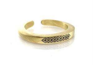 Ax b-rogo engraving Ring 真鍮製