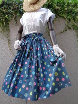 50~60s vintage patterned pleats skirt 50~60年代  ヴィンテージ 柄 プリーツスカート