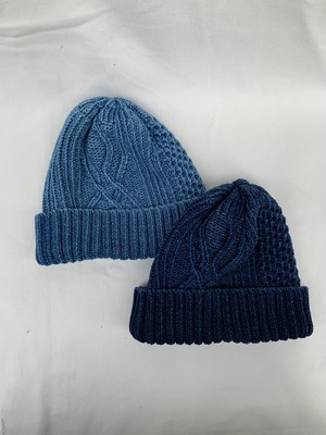 【ROTOTO】ARAN CABLE INDIGO WATCH CAP