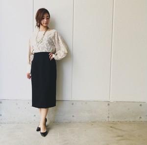 Chinon  original clothes  バルーン袖カフスブラウス
