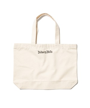 """Delivery Hells"" TOTE BAG (L)  NATURAL  19AW-DH-28"