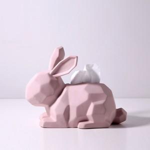 ceramic rabbit tissue case / セラミック ラビット ティッシュ ケース うさぎ オブジェ インテリア 韓国 北欧 雑貨