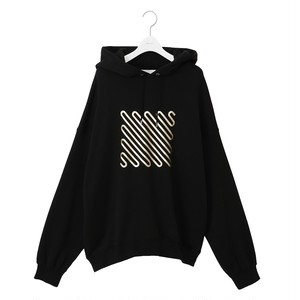 """Iconfoil Hoodie """"GLD"""" -BLACK×GD- / NEON SIGN"""
