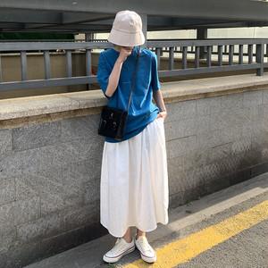 ロング丈フレアスカート1011-200507003