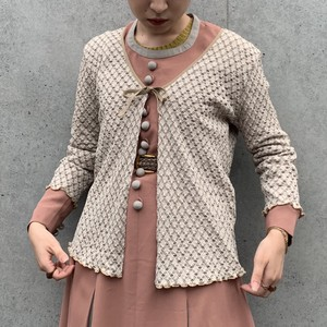 (LOOK) check l/s cardigan