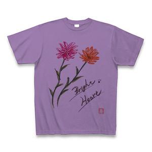 Bright♡Heart Tシャツ(ブライトハートフラワー)紫