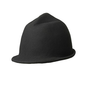 CRUMPLED HAT/black