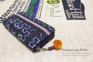 モン族刺繍長財布